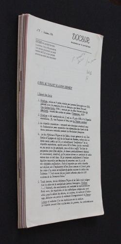 Docsur, documents sur le surréalisme (15 numéros à suivre): Collectif