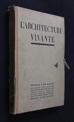 L'architecture vivante, printemps-été MCMXXV: Collectif,Badovici Jean