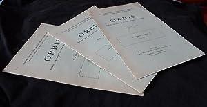 Orbis, Bulletin International de Documentation Linguistique, tomes VI, n°2, 1957 - VII, n°1...