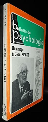 Bulletin de psychologie, 327, XXX 3-9, hommage à Jean Piaget: Collectif