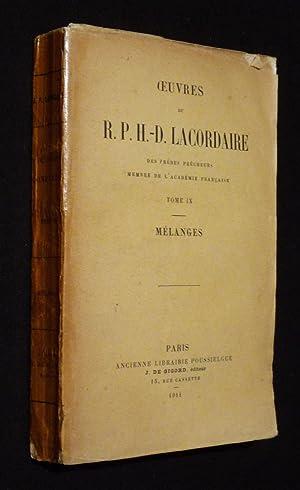 Oeuvres de R. P. H.-D. Lacordaire, Tome: Lacordaire R. P.