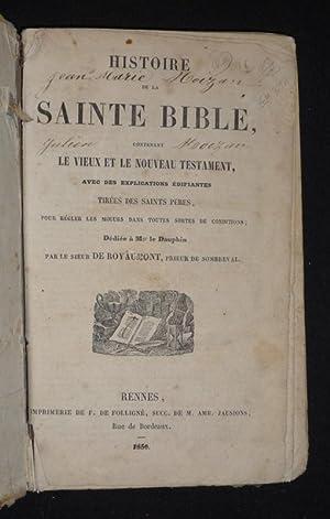 Histoire de la Sainte Bible, contenant le: Royaumont