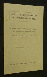 A propos de thoracoplasties avec apicolyses. Etude: Bernou A.,Fruchaud H.,Marecaux
