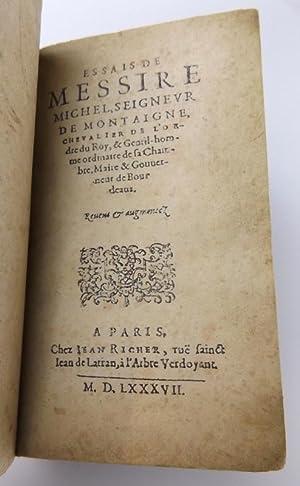 Essais de Messire Michel, seigneur de Montaigne,: Montaigne, Montaigne Michel
