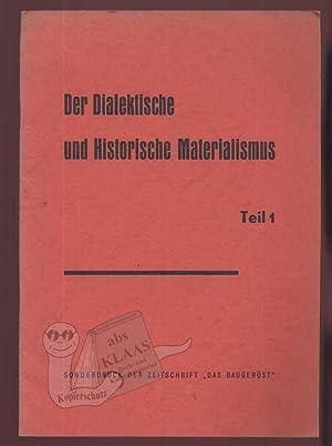 Der Dialektische und Historische Materialismus Teil 1: Krusche, Peter (Hrsg.);