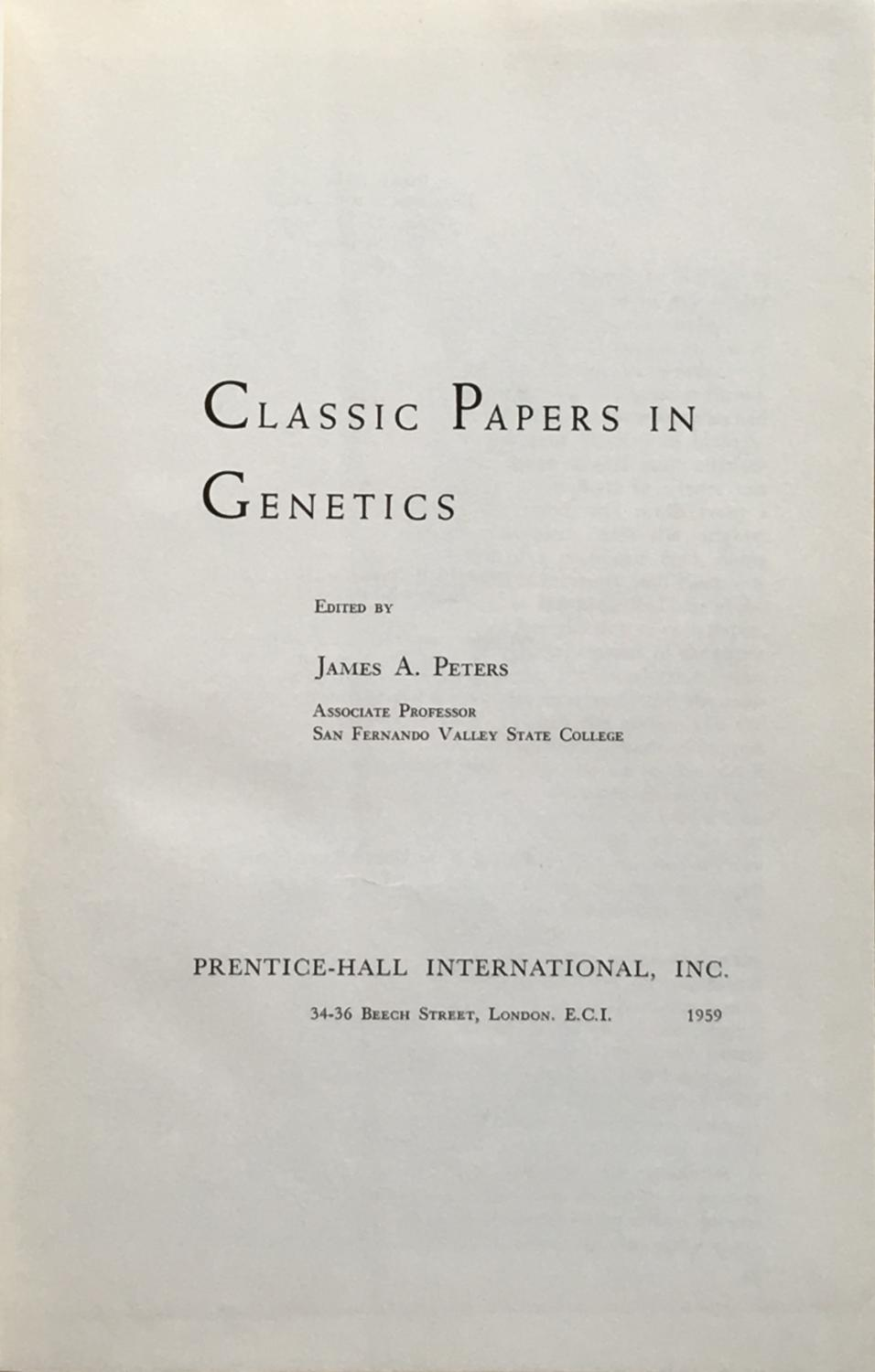 Gregor Mendel's classic paper and the nature of science in genetics courses