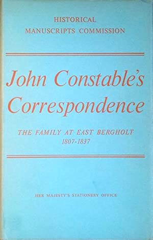 John Constable's correspondence: the family at East: Beckett, R.B. (ed.)