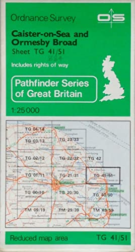 Pathfinder map sheet 884: Caister-on-Sea and Ormseby Broad