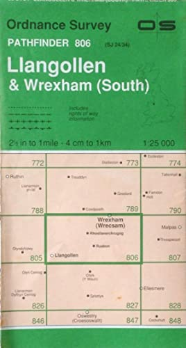 Llangollen & Wrexham (Wrecsam) South Pathfinder sheet SJ24/34