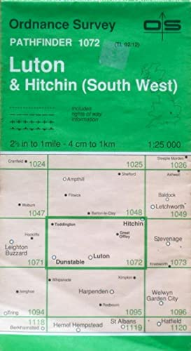 Luton & Hitchin (SW), 1:25,000 (Pathfinder sheet 1072)