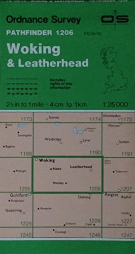 Woking & Leatherhead Pathfinder map sheet 1206