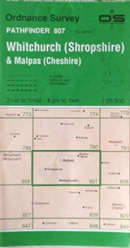 Whitchurch (Shropshire) and Malpas (Cheshire) Pathfinder sheet 807