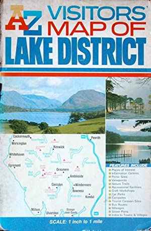 A-Z visitors' map of Lake District