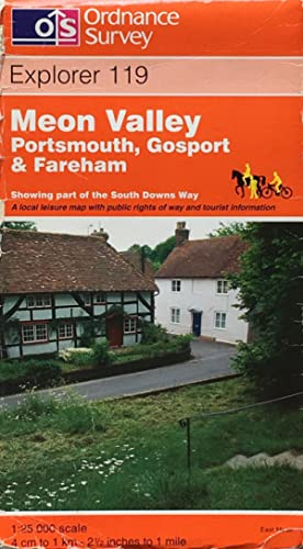 Meon Valley: Portsmouth, Gosport an Fareham: Explorer sheet 119