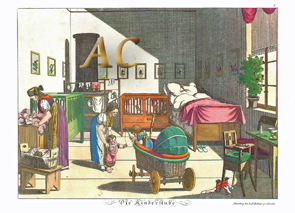 Johann michael voltz kinderstube gitterbett wiege stubenwagen