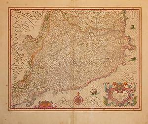 Catalonia Principatus Descriptio Nova.: HONDIUS, H & JANSSONIUS, J.