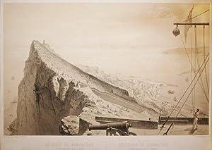 Estrecho de Gibraltar. Punta de Europa, Ceuta y Tanger. De: L'Espagne a Vol d'Oiseau.: ...