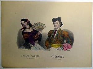 Amparo Álvarez. (La Campanera). Cúchares. Primer Espada. De la obra Costumbres ...