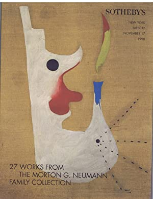 27 WORKS FROM THE MORTON G. NEUMANN FAMILY COLLECTION. 17/11/1998.
