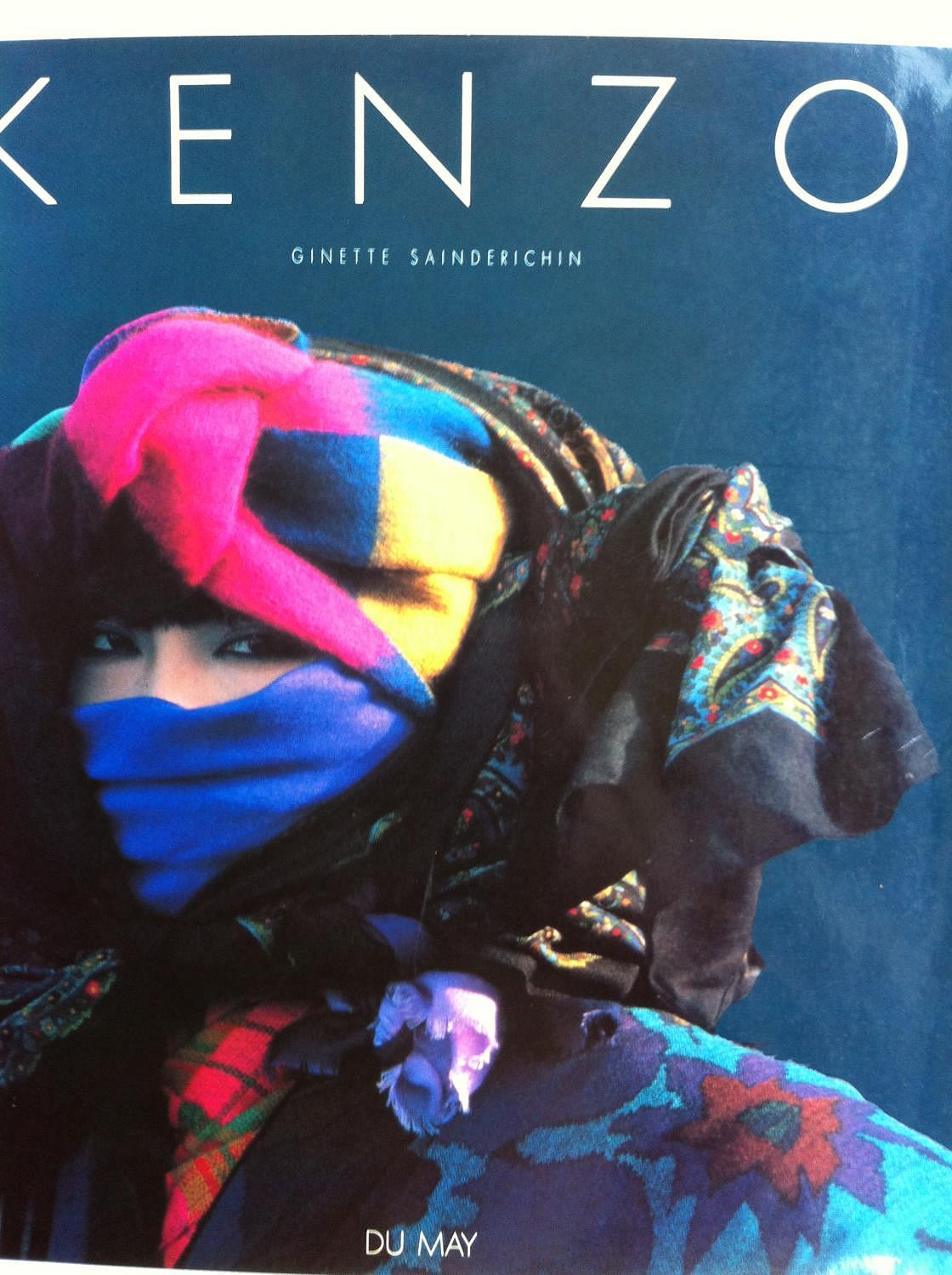 KENZO (FRENCH EDITION) SAINDERICHIN, Ginette Hardcover Hardback in dust-jacket, fine condition, with no markings or tears. Lavishly illustrated with full-color gloss photographs of gorgeous fashion moments