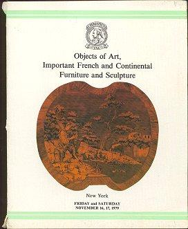 Objects of Art, Imporant French and Continental Furniture and Sculpture (November 16, 17, 1979)