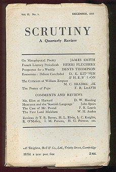 Scrutiny a Quarterly Review (Vol. II, No. 3, December 1933)
