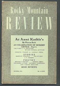 Rocky Mountain Review (Volume 8, No. 2, Winter 1944)