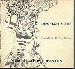 Important Silver (Auction Catalog - Sale 94A, October 12,1973)