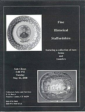 Fine Historical Staffordshire Featuring a Collection of Rare Forms and Transfers (Auction Catalog...