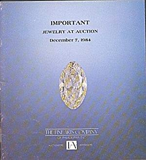 Important Jewelry at Auction - December 7, 1984 (Auction Catalog - Sale No. 406)