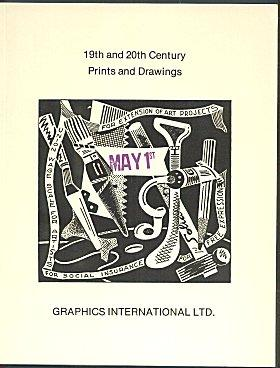 19th and 20th Century Prints and Drawings - Catalogue 4 (1974 )