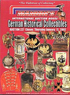German Historical Collectibles - Manion's Auction Catalogue: Manion's International Auction