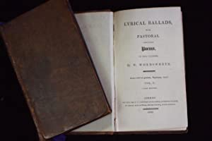 Lyrical Ballads, With Pastoral and Other Poems,: WORDSWORTH, William.