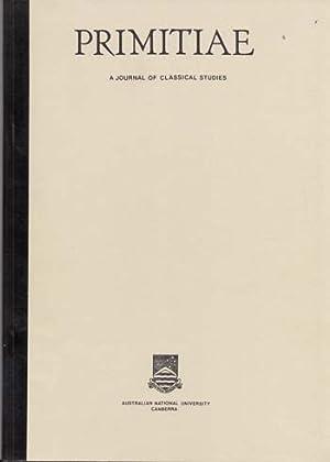 Primitiae A Journal of Classical Studies: Gardner, R. J.