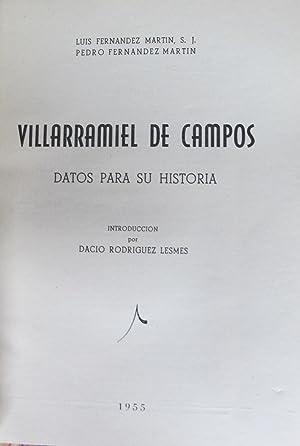 VILLARRAMIEL DE CAMPOS: Luis Fernandez Martín y Pedro Fernandez martín