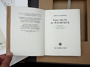Faire signe au machiniste: MANSOUR, Joyce