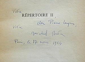 Répertoire II: BUTOR, Michel