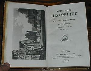 Dictionnaire des évènemens remarquables: VOLTAIRE