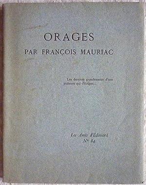 Orages: MAURIAC, François