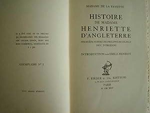 Histoire de Madame Henriette d'Angleterre première femme de Philippe de France Duc d'...