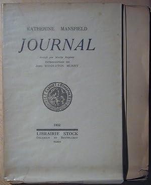 Journal: MANSFIELD, Katherine (Kathleen