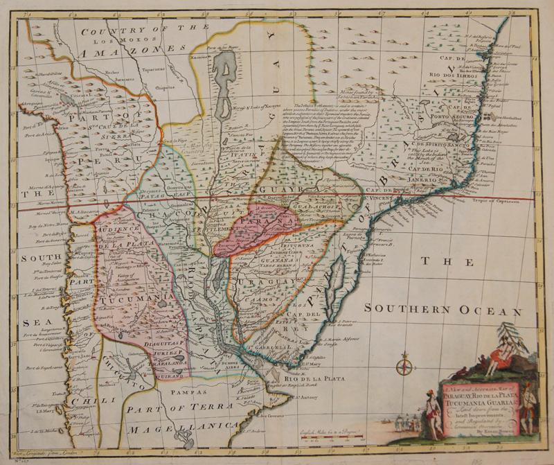 A new and accurate map of Paraguay, Rio de ...