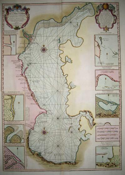 Carte Marine De La Mer Caspienne L Isle