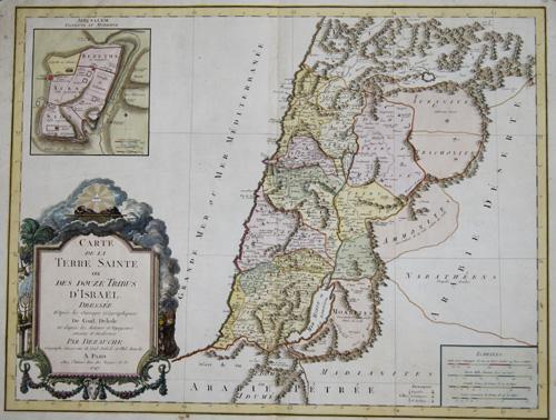 Carte De La Terre Sainte Ou Des Dezauche L Isle