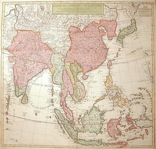 Carte Des Indes Et De La Chine Dezauche L Isle