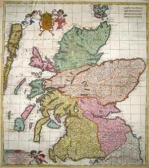 Scotia regnum divisum in Partem Septentrionalem et: Wit, de Frederick