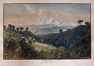 Der Kilimandscharo. Nach dem Gemälde von A. Lutteroth.: Stadelmann/ Lutteroth G./ Ascan (1842 ...