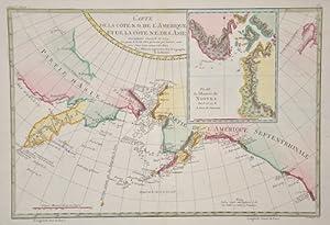 Carte de la Cote N.O. L Amerique: Bonne Rigobert (1727