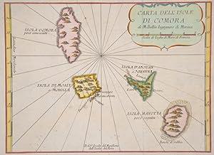 Carta dell isole di Comora: Bellin Jacques Nicolas