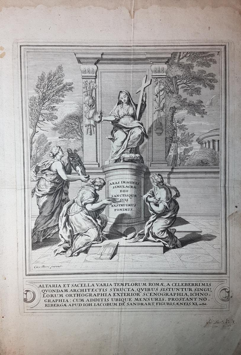 Altaria et sacella varia templorum Romae, a: Sandrart, Joachim von]